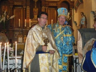 Père Patrick et Monseigneur Nicolas